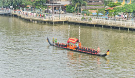 Rehearsal for Royal Barge Procession Stock Image