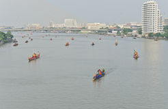 Rehearsal for Royal Barge Procession Stock Photography