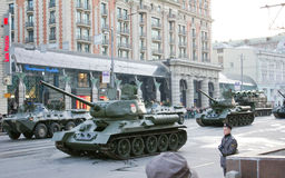 Rehearsal for the Victory Parade Stock Image