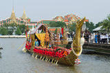 The rehearsals Royal barge Royalty Free Stock Image