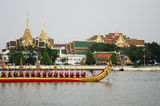 The rehearsals Royal barge Royalty Free Stock Photography