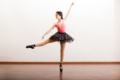 Rehearsing in a dance academy Royalty Free Stock Images