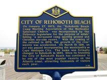 Rehoboth海滩的历史记录 免版税库存照片