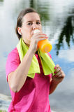 Rehydratation Woman Royalty Free Stock Photos
