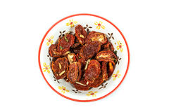Rehydrated och kryddade torkade tomater Royaltyfri Bild