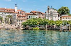 Reißen Sie auf der Bella Island eine der Borromean-Inseln von See Maggiore in Nord-Italien hin Lizenzfreies Stockbild