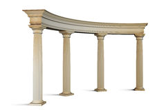 Reißen Sie Gruppe mit Spalten in der klassischen Art auf einem Weiß hin 3 Lizenzfreie Stockbilder