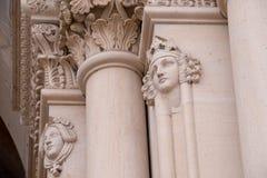 Reißen Sie Portaldekoration in Speyer-Kathedrale, Deutschland hin Stockfotografie