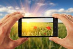 Reißendes Bild des Handys Stockfotografie