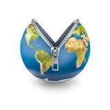Reißverschluss-Erde Stockfotos