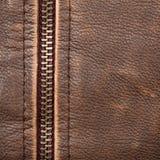 Reißverschluss und Leder lizenzfreie stockfotografie