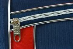 Reißverschluss und Tasche auf Beutel stockfotografie