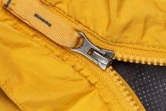 Reißverschluss zugemachtes offenes die Tasche Stockbild