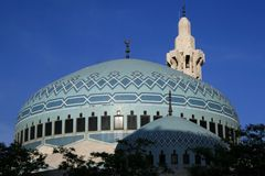 Rei Abdullah Mesquita em Amman Fotos de Stock