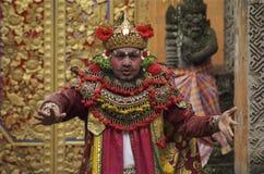 Rei Airlangga Executor do Balinese em uma cerimônia de Barong Fotografia de Stock Royalty Free