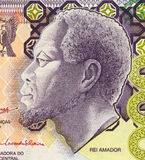Rei Amador. On 5000 Dobras 2004 Banknote from Saint Thomas and Prince Royalty Free Stock Photos