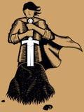 Rei Arthur ilustração stock