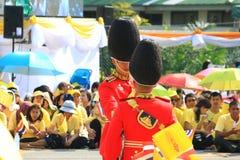 Rei Bhumibol Crest de Rama IX, em sua celebração do aniversário do th 86 Fotografia de Stock