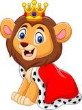 Rei bonito do leão dos desenhos animados ilustração stock