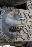 Rei Cannon no Kremlin de Moscou, cabeça do canhão do czar do leão Fotos de Stock Royalty Free