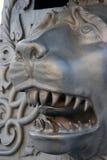 Rei Cannon no Kremlin de Moscou, cabeça do canhão do czar do leão Imagem de Stock Royalty Free