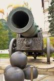 Rei Cannon no Kremlin de Moscou Foto a cores Foto de Stock Royalty Free