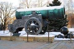 Rei Cannon no Kremlin de Moscou Local do património mundial do Unesco Fotografia de Stock Royalty Free