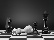 Rei Checkmate ilustração royalty free