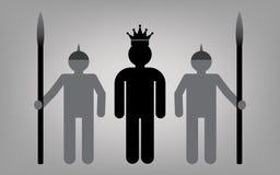 Rei com o exército real Foto de Stock