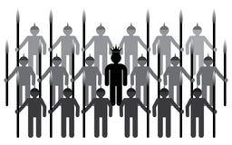 Rei com o exército real Fotografia de Stock