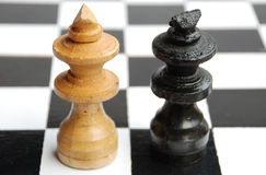 Rei contra o rei Fotografia de Stock Royalty Free