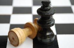 Rei contra o rei Fotografia de Stock