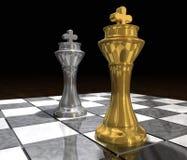 Rei Contra rei Imagem de Stock Royalty Free