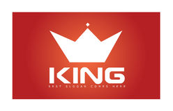 Rei Crown Simple Logo Imagens de Stock Royalty Free