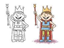 Rei da criança Ilustração Stock