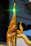 Rei da estátua dos nagas na frente do templo do buddhism Imagens de Stock Royalty Free