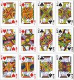 Rei da rainha do jaque dos cartões de jogo 62x90 milímetro Foto de Stock Royalty Free