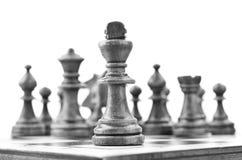 Rei da xadrez na primeira linha Imagens de Stock Royalty Free