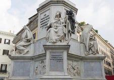 Rei David por Tadoini, base da coluna do monumento da concepção imaculada, Roma Imagens de Stock Royalty Free