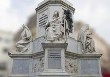Rei David por Tadoini, base da coluna do monumento da concepção imaculada, Roma Foto de Stock