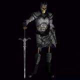 Rei de esqueleto #01 do guerreiro Fotografia de Stock Royalty Free