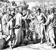Rei de Salem Blessing Abraham foto de stock royalty free