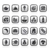 Rei diferente dos ícones 2 do alimento e das bebidas Fotografia de Stock