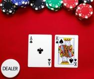 Rei do ás offsuited na tecla Fotos de Stock Royalty Free