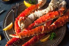 Rei do Alasca orgânico cozinhado Crab Legs imagem de stock