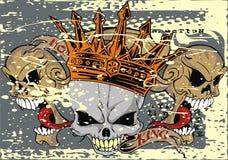 Rei do crânio Fotografia de Stock