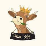 Rei do leite Imagem de Stock Royalty Free