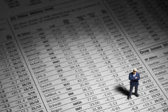 Rei do mercado de valores de acção Imagem de Stock