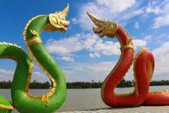 Rei do Naga - a grande serpente Imagens de Stock