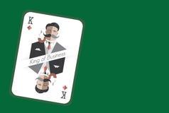Rei do cartão de jogo do negócio Fotografia de Stock Royalty Free